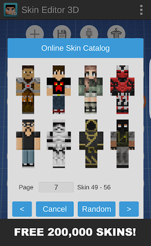 Skin Editor 3D for Minecraft pc screenshot 1