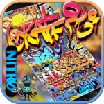 Graffiti Wall Keyboard theme icon