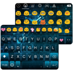 Neon Clock Emoji Keyboard Skin icon