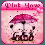 Pink Love Bear Theme icon
