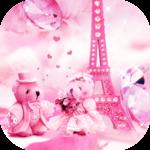Teddy bear love theme in Paris icon