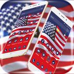 American flag USA icon