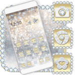 Luxury Gold & Silver Launcher Theme icon