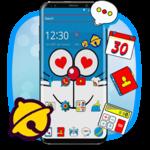 Blue Doremeow Cat  Theme icon