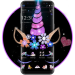 Night Star Unicorn Sparkling Theme icon