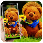 Cute Brown Stuffed Teddy Bear Theme icon