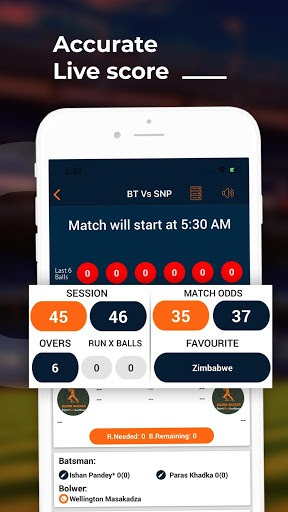 Score Bazaar - Cricket Live Line Score pc screenshot 1