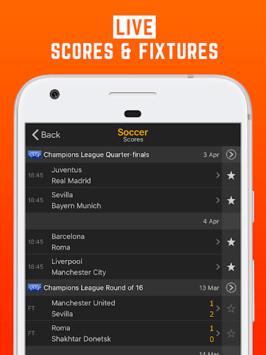LiveScore: Live Sport Updates pc screenshot 1