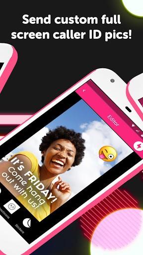 Flash: Full Screen Caller ID - Send Pics & Videos pc screenshot 1