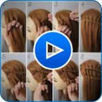 Hairstyle Video Tutorial for Girls 2019 icon