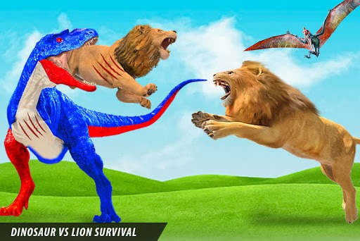 Wild Lion vs Dinosaur: Animal Battle Simulator PC screenshot 1