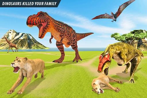 Wild Lion vs Dinosaur: Animal Battle Simulator PC screenshot 2