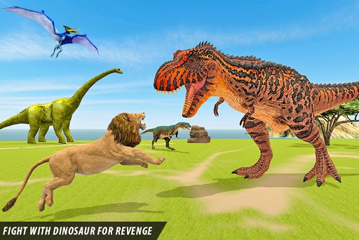Wild Lion vs Dinosaur: Animal Battle Simulator PC screenshot 3