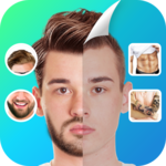 Manly Photo Editor - Hairstyles, Abs, Tattoo icon