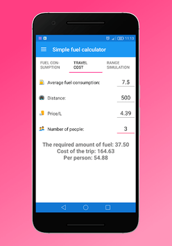 Simple fuel calculator pc screenshot 2