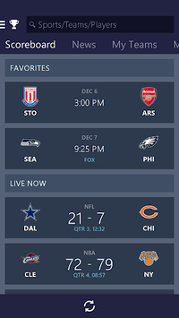 MSN Sports - Scores & Schedule pc screenshot 1