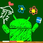 Drawing blackboard for pc logo