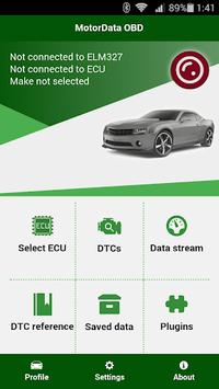 MotorData OBD Car Diagnostics. ELM OBD2 scanner pc screenshot 1