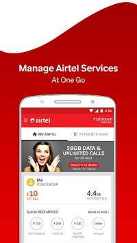 My Airtel-Recharge, Pay Bills, Bank & Avail Offers pc screenshot 1