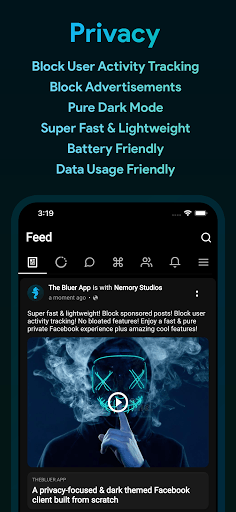 Bluer for Facebook and Messenger PC screenshot 1