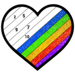 Adult Glitter Color by Number Book - Sandbox Pages icon