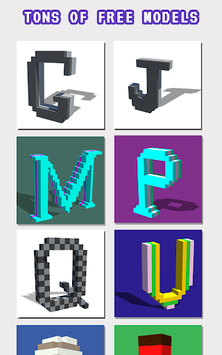 Alphabets 3D Color by Number - Voxel Coloring pc screenshot 1