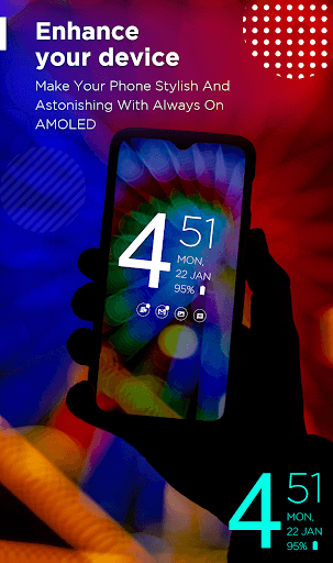 Always on Display: Edge Light & Amoled Clock Free pc screenshot 1