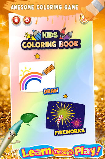 Glitter Number Coloring and Drawing Book PC screenshot 1