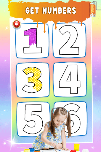 Glitter Number Coloring and Drawing Book PC screenshot 2