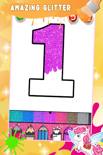 Glitter Number Coloring and Drawing Book PC screenshot 3