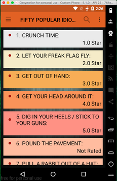 Idioms and Their Meanings pc screenshot 1