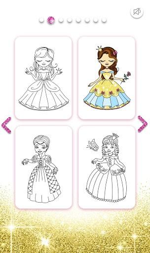 Princess Coloring Book Glitter pc screenshot 1