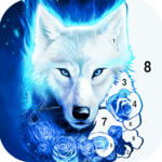 Wolf Coloring Book: Free paint by number offline icon