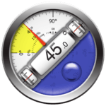 Clinometer  +  bubble level for pc logo