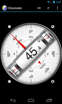 Clinometer  +  bubble level pc screenshot 1