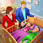 Virtual Mother Baby Twins Family Simulator Games for pc logo