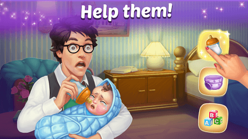 Family Hotel: Renovation & love storymatch-3 game PC screenshot 1