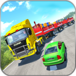 Long Trailer Euro Truck Cargo Transporter Drive icon