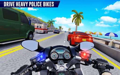 Police Moto Bike Highway Rider Traffic Racing Game PC screenshot 1