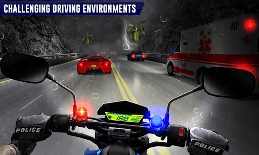 Police Moto Bike Highway Rider Traffic Racing Game PC screenshot 2