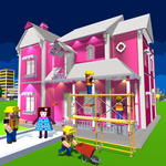 Doll House Design & Decoration : Girls House Games icon