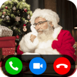 Simulated Video Call from Santa Claus Fake for pc logo