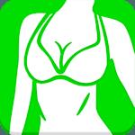 Beautiful breast workout icon