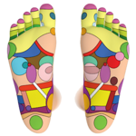Foot Reflexology Chart icon