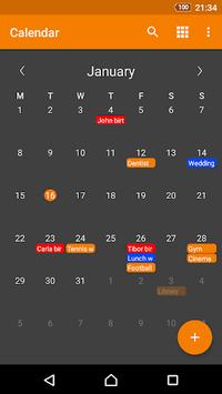 Simple Calendar pc screenshot 1
