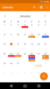 Simple Calendar pc screenshot 2