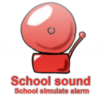 School sign simulate alarm icon