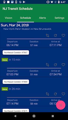 NJTSchedule(NJ Transit,  Schedules) PC screenshot 3