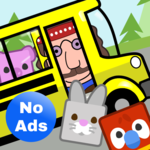 Preschool Bus Driver: Toddler Games Free No Ads icon
