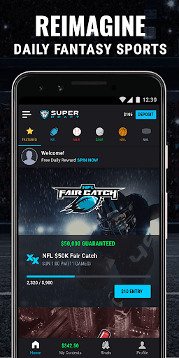 SuperDraft - Fantasy Sports PC screenshot 1